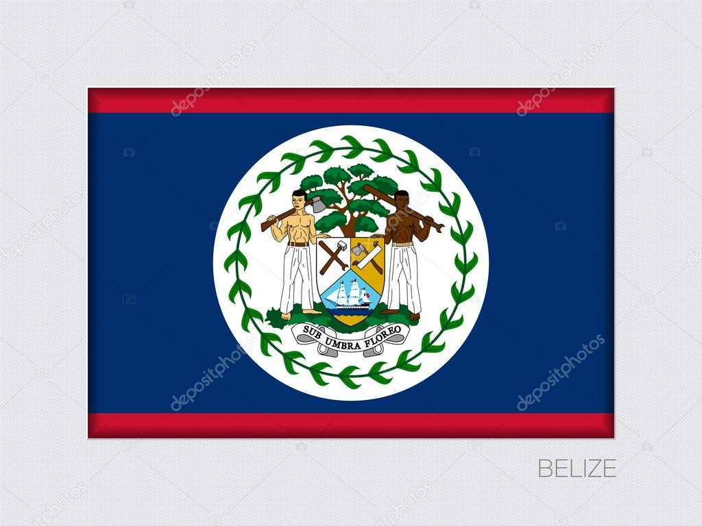 flag of belize rectangular official flag with proportion 2 3