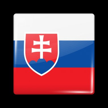 Flag of Slovakia. Glossy Icons
