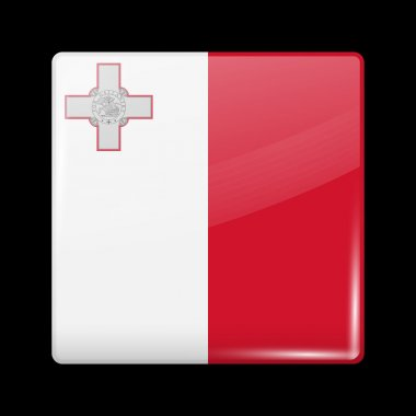 Flag of Malta. Glossy Icons