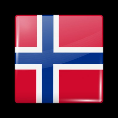 Flag of Norway. Glossy Icons