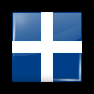 Flag of Greece. Glossy Icons