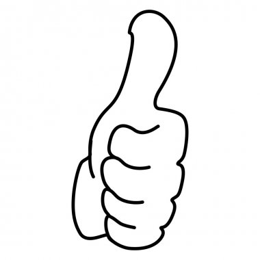 Thumb Up Hand Sign Silhouette