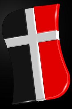 Logo for Church. Cross Logo. Symbol of Christianity