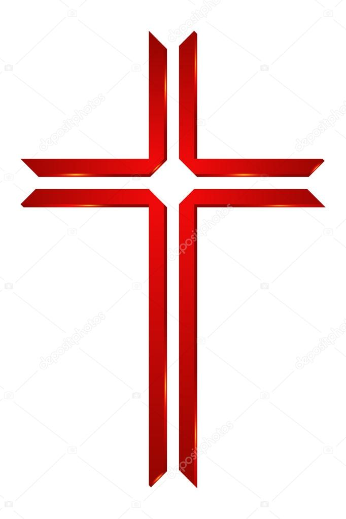 Logo For Church Cross Logo Symbol Of Christianity Stock Vector