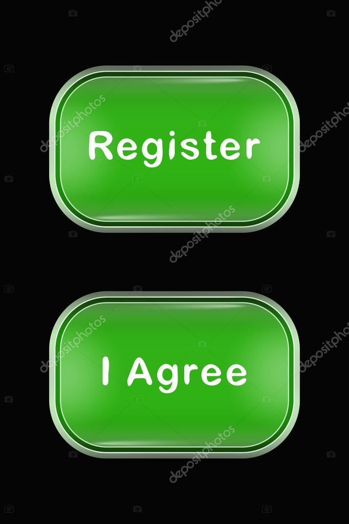 Modernes Glas Knöpfe Register Ich Bin Damit Einverstanden