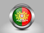 A Portugália lobogója. Fém kerek ikon