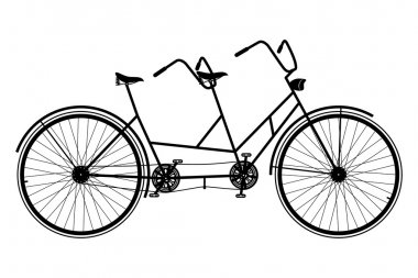 Tandem Bicycle Silhouette