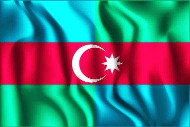 South Azerbaijan Flag. Rectangular Shape Icon