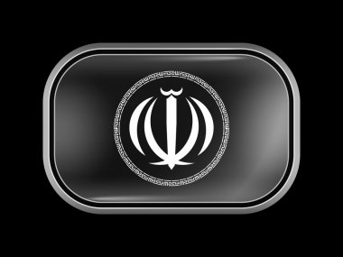 Iran Variant Emblems. Rectangular Shape with Rounded Corners