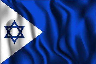 Israel Variant Flag. Rectangular Shape Icon