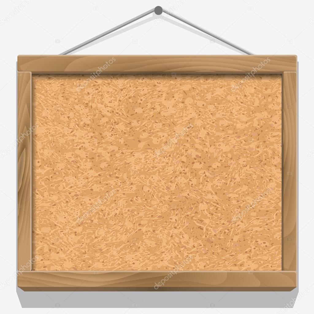Kork-Board mit Holzrahmen — Stockvektor © Roxiller #100169370