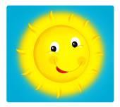 Cartoon-Szene mit Wetter - glücklich Sonne