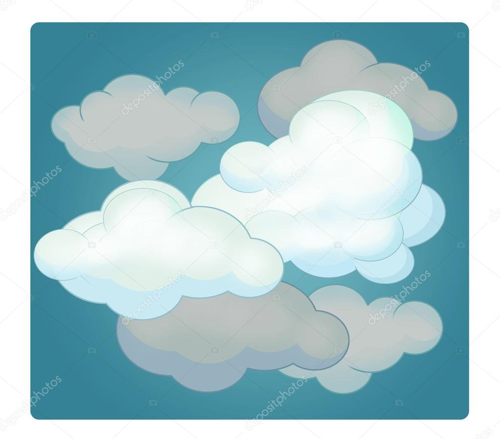 Cartoon scene with weather - cloudy — Stock Photo © agaes8080 #102905208