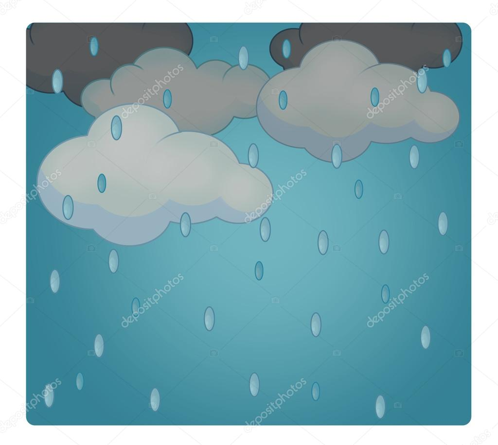 Cartoon scene with weather rainy stock photo agaes8080 cartoon scene with weather rainy stock photo voltagebd Gallery