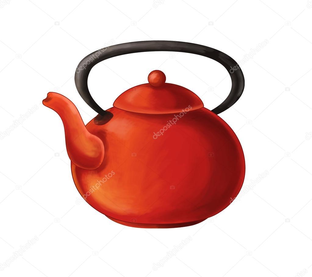 Dibujos animados de utensilios de cocina hervidor de agua foto de stock agaes8080 116578020 - Dibujos de cocina ...