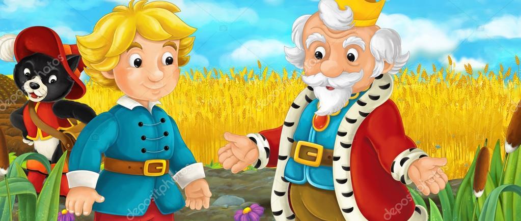 Escena De Dibujos Animados Con La Familia Real