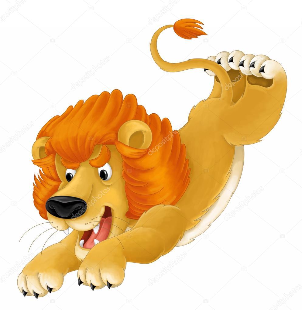 漫画動物 子供のライオン 似顔絵 イラスト ストック写真