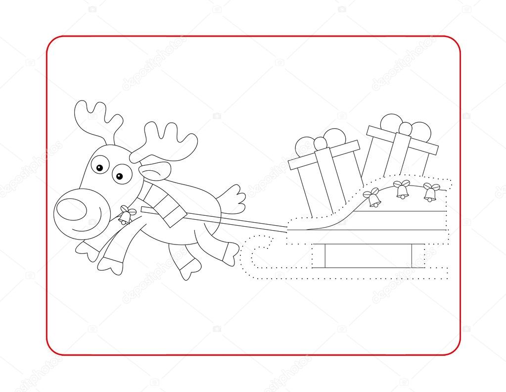 Christmas exercise - coloring page