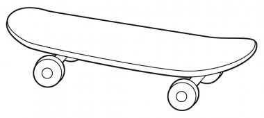 Skateboard - coloring page