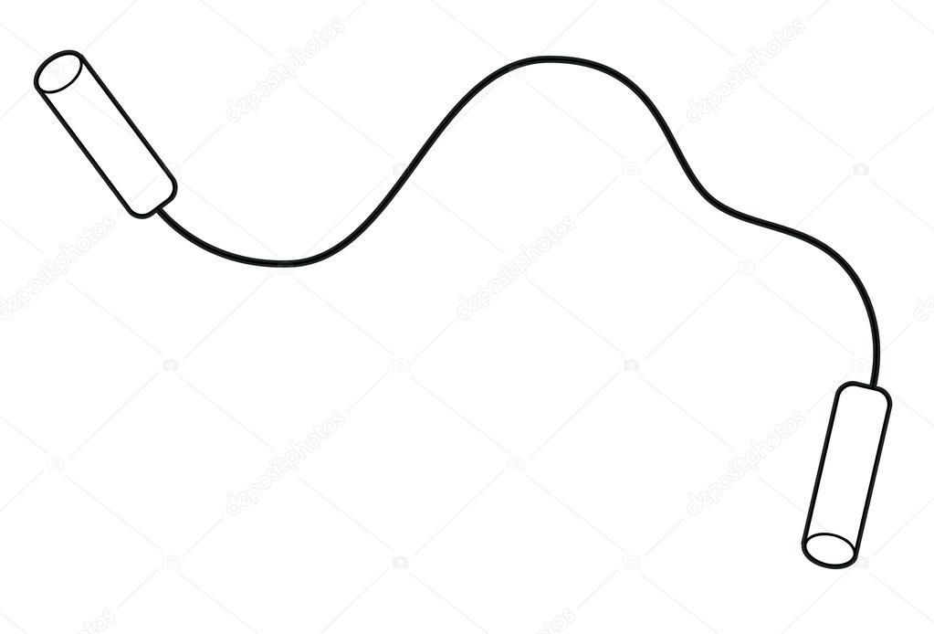 Черно белая картинка скакалка