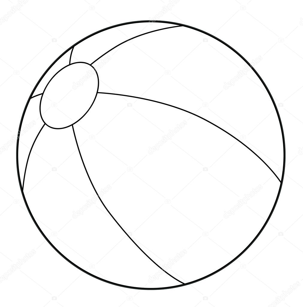 Ball Coloring Page Stock Photo C Agaes8080 53522845