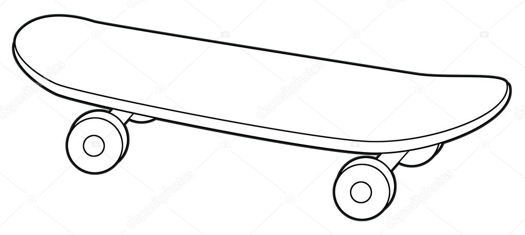 Skateboard - coloring page — Stock Photo © agaes8080 #53522849