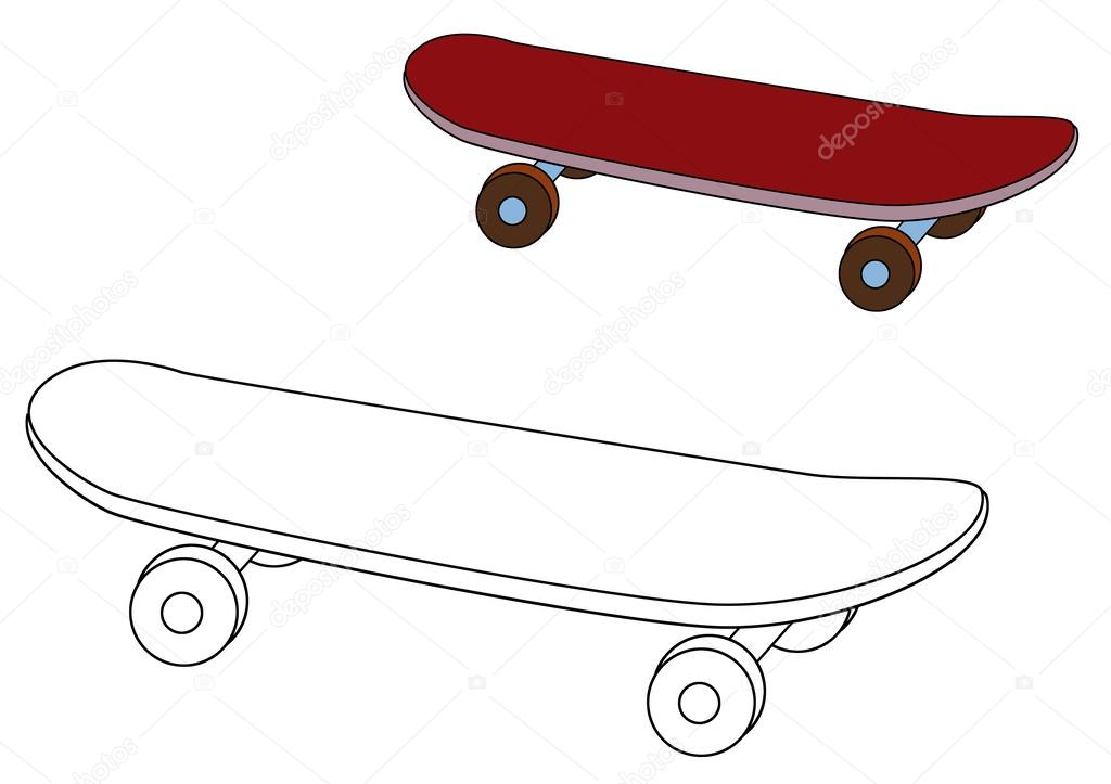 Skateboard coloriage photographie agaes8080 53522997 - Dessin skateboard ...