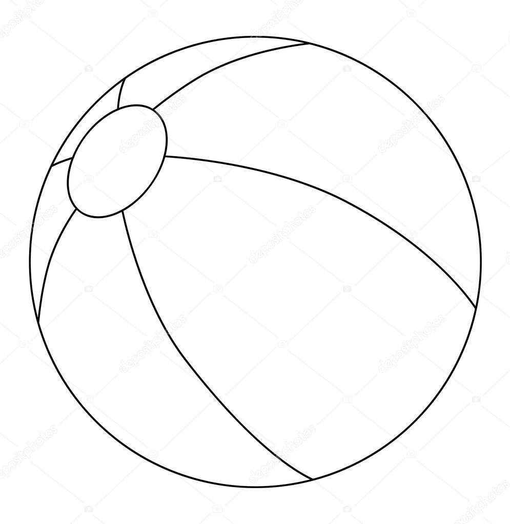 Ball Coloring Page Stock Photo C Agaes8080 53528513