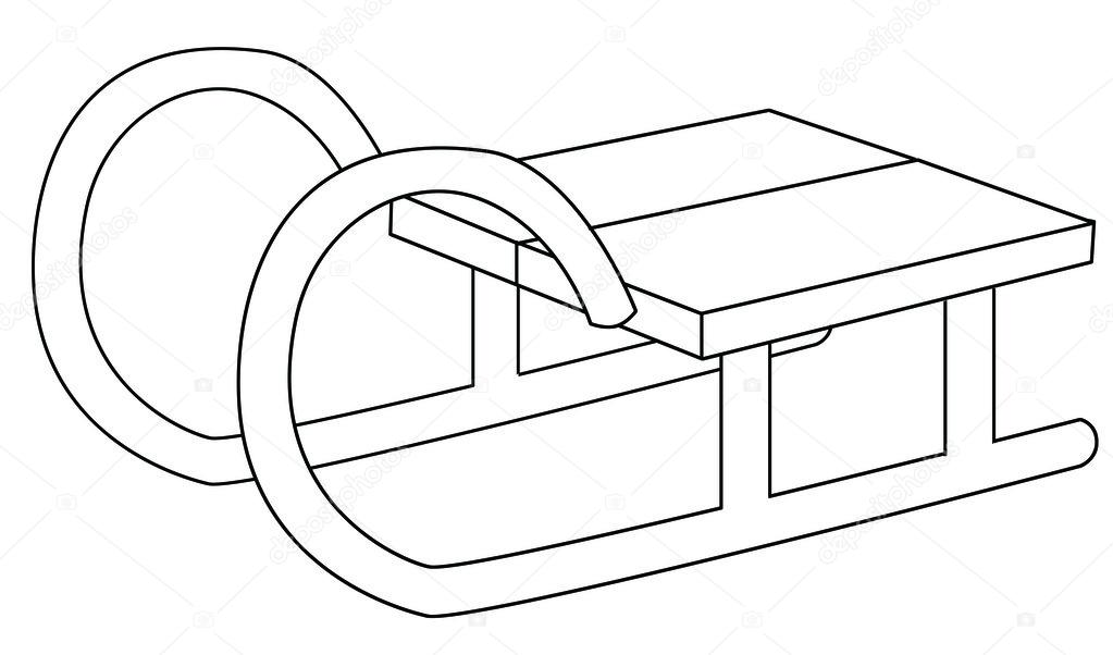 Sledge Coloring Page Stock Photo Agaes8080 53528553