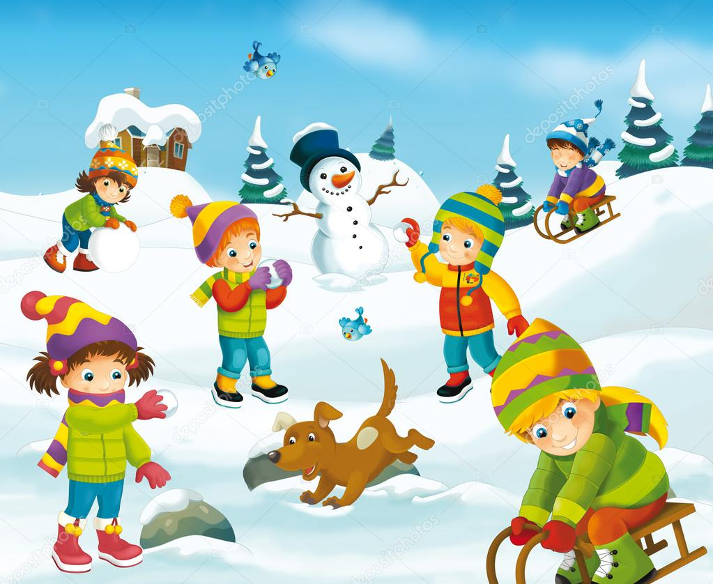 Imágenes animados de invierno dibujos