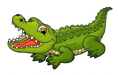 Cartoon small animal - crocodile - illustration for the children stock vector