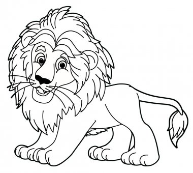 Lion -  coloring page
