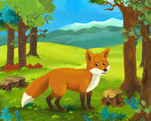 Photo Cartoon  fox