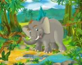 Fotografie Cartoon Elefant