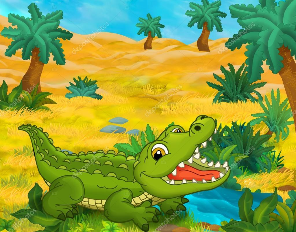 Dibujos Animados De Animales Cocodrilo
