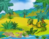 Kreslený volně žijící had