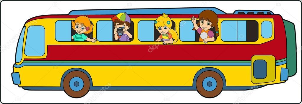 Kresleny Autobus S Detmi Stock Fotografie C Agaes8080 70270863