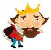 Kreslený král - ilustrace