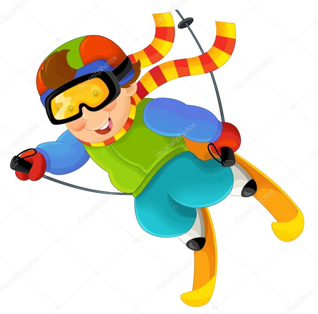 Cartoon ski boy — Stock Photo © agaes8080 #79872860