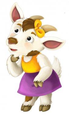 Cartoon funny goat