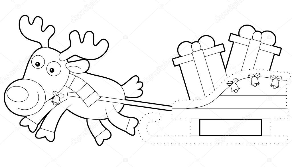 ejercicio de Navidad - Página para colorear — Fotos de Stock ...
