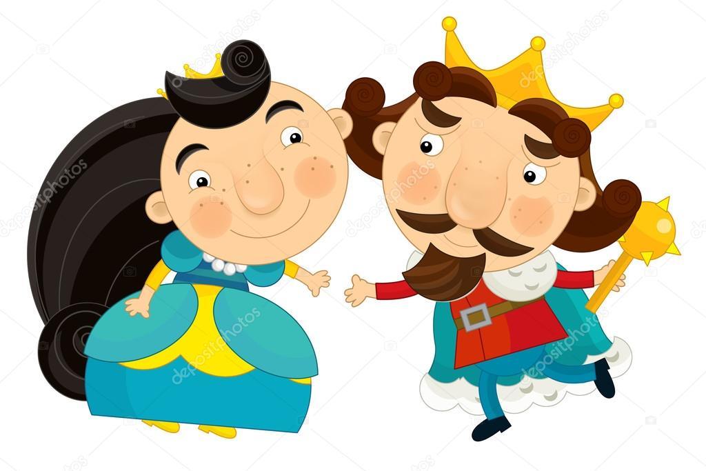 Dibujos Reina Y Rey Dibujos Animados Rey Y La Reina Sonriendo Uno
