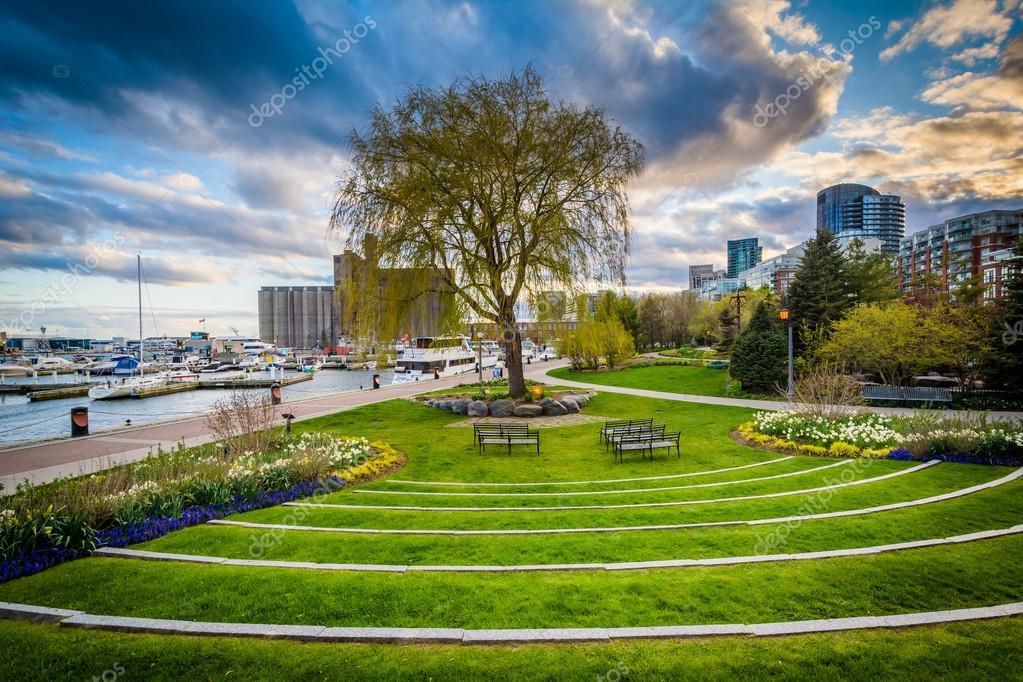 The Toronto Music Garden, at the Harbourfront in Toronto, Ontari ...