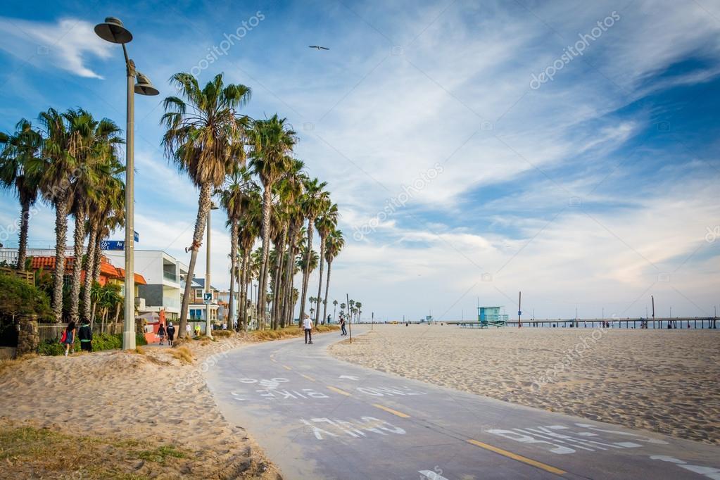 Radweg entlang des strandes in venice beach los angeles for 2533 raumgestaltung und entwerfen