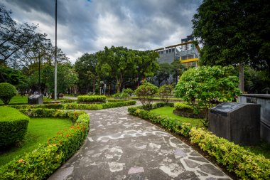 Walkway and gardens at the University of Santo Tomas, in Sampalo
