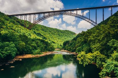 The New River Gorge Bridge, seen from Fayette Station Road, at t