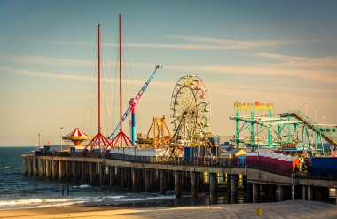 The Steel Pier at Atlantic City, New Jersey.