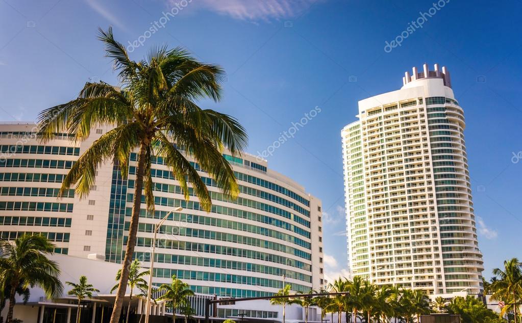 Das Hotel Fontainebleau Miami Beach Florida Stockfoto