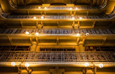 Upper levels of the Peabody Library in Mount Vernon, Baltimore,