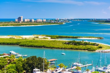 View of Ponce Inlet and New Smyrna Beach from Ponce de Leon Inle